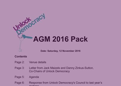 AGM 2016 Pack
