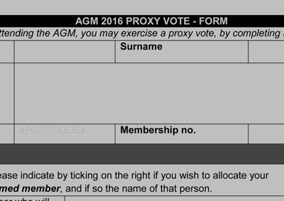Proxy Vote form