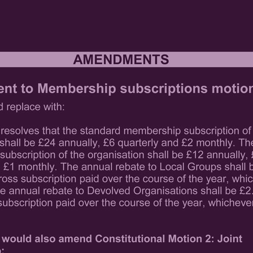 Emergency Motions and Amendments