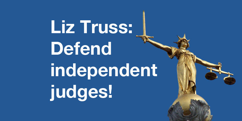 Defend independent judges