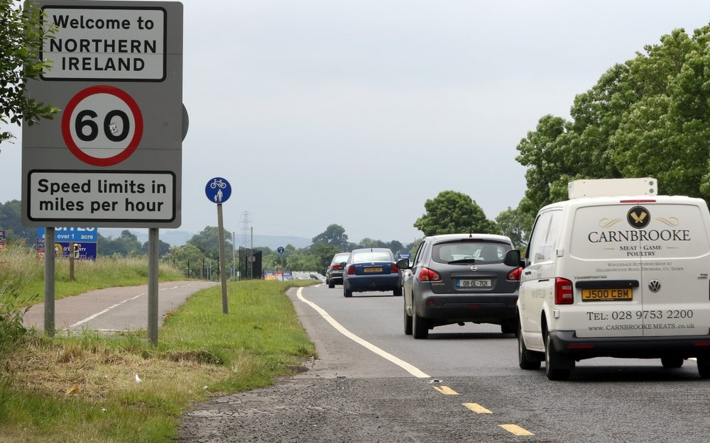 The current border between Northern Ireland and the Republic of Ireland is seamless // Credit: New Statesman