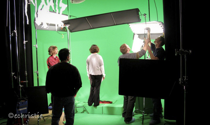 Stills photography be Erika Christie Behind the Scenes Green Screen Shoot