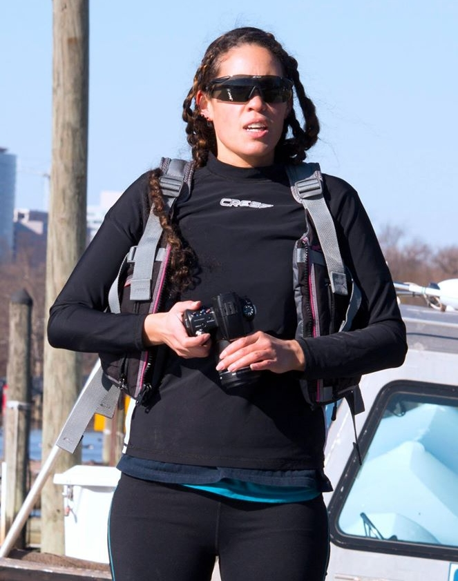 Erika in Alexandria, VA photographing and directing the team.