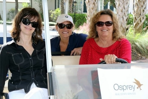 From left to right:  Fabienne Porter and Lori Hellstrom with Osprey Real Estate Services and Linda Emery with Sperry Van Ness
