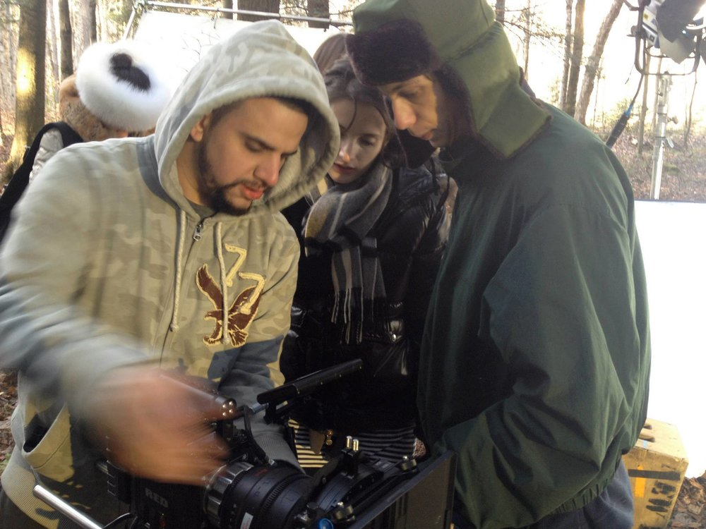 Director of Photography Dominick Sivilli, Camera Assistant Jared Melman and Director Rebekah Fieschi