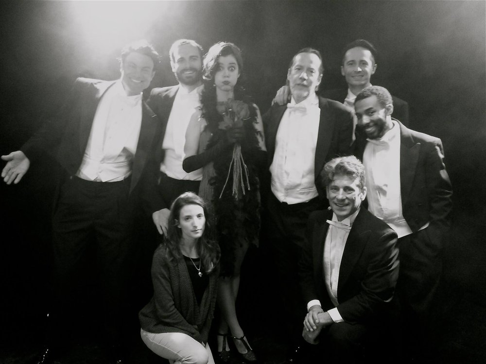 Supporting actors Joe Zaso, Jack Picone, Diako Diakoff, Arseniy Grobovnikov, Garentch Pascal, Frank Harvester with Lead actress Alice Dessuant and Writer/Director Rebekah Fieschi