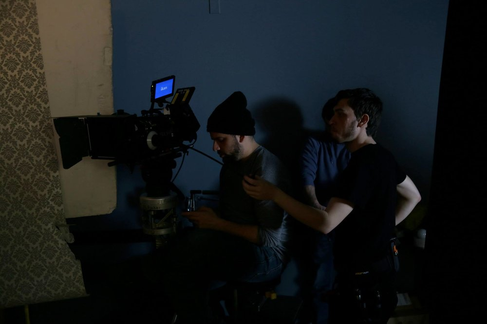 Director of Photography Dominick Sivilli and Camera Assistant David Faynberg