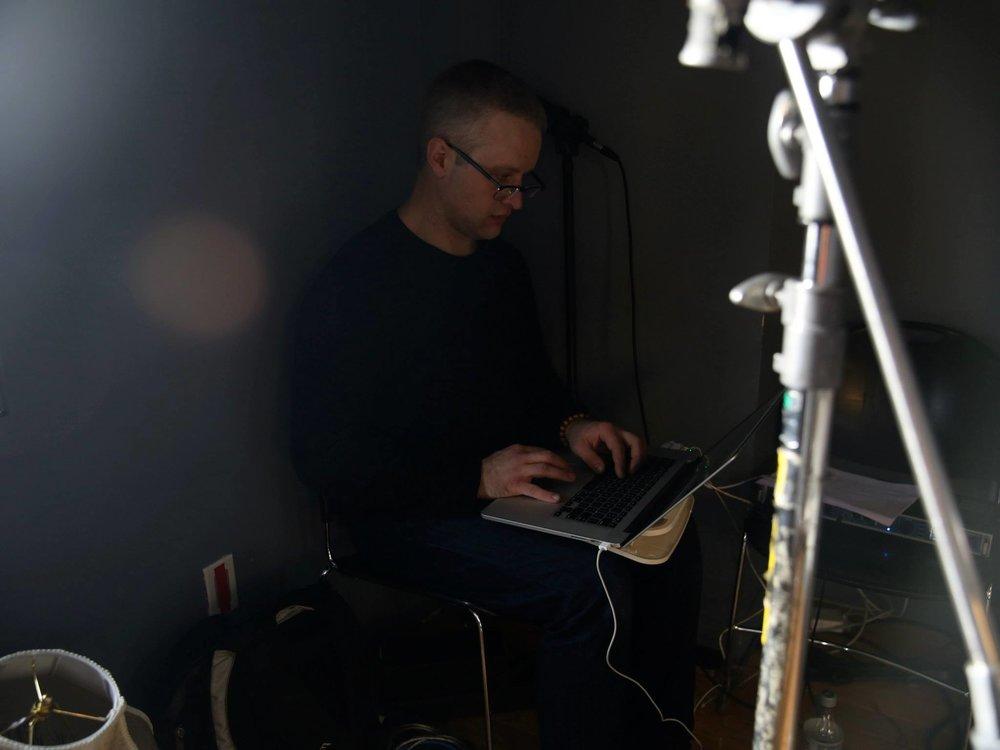 Sound recordist Bradley Bloom