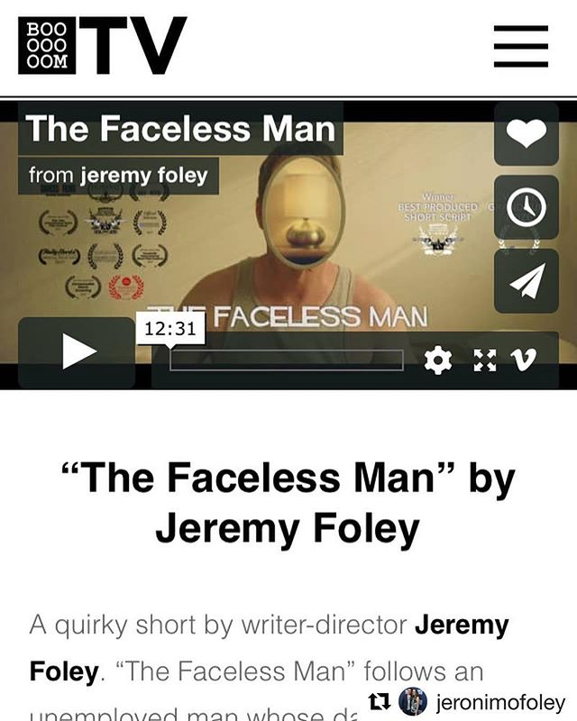 This is one of ou 2017 favorite shorts, WATCH IT!  #Repost @jeronimofoley with @get_repost ・・・ #thefacelessman #shortfilm is up on @booooooom link in Bio 🔝AND they were nice enough to share our #behindthescenes #bts #makingof featurette, it goes into detail on how we brought this story to life - I think it's a lot of fun and hope people will check them both out😎 really appreciate all their help in spreading the word about this quirky #film #booooooom #filmmaking #filmmaker #filmmakers #shortfilms #vimeo #shortfilmmaking #indiefilm #indiefilmmaking #indiefilmmaker #director #directing #producer #actor #screenwriter #sfxmakeup #specialeffectsmakeup #reflection #onbooooooom