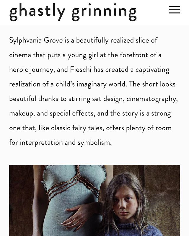 #SylphvaniaGrove's new review is up thanks to our friend Joseph Perry of Ghastly Grinning. Honored to be sharing the page with Izzy Lee's #MyMonster @nihilnoctem . Link in bio! Stat tuned for the trailer release, D-4!!! . . . . . . . . #fantasymovie  #actor  #actorslife #acting  #womeninfilm #womendirectors #directedbywomen #bts #behindthescenes #independentfilm #filmmaking #shortfilm #makingmovies #mythologicalcreature #myth #legend #fairytales #moviereview #horrorreview  #SheMakesADifference #IfSheCanSeeItSheCanBeIt #CourageToChange #FightLikeAGirl #wolf #girlhero #bebrave #femaleprotag #girlgaze