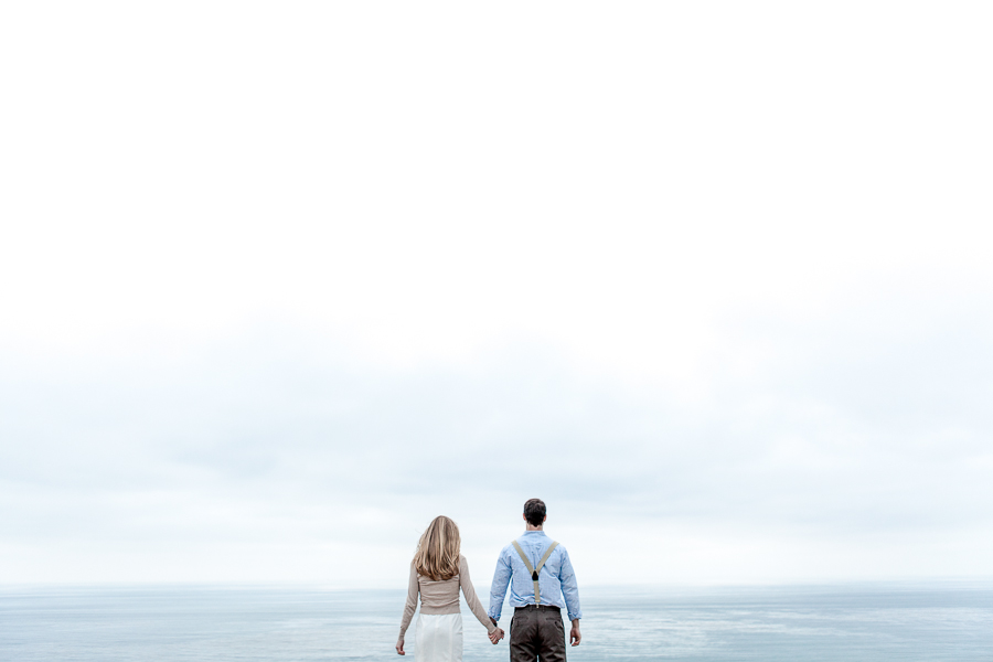 engagement session on a cloudy day