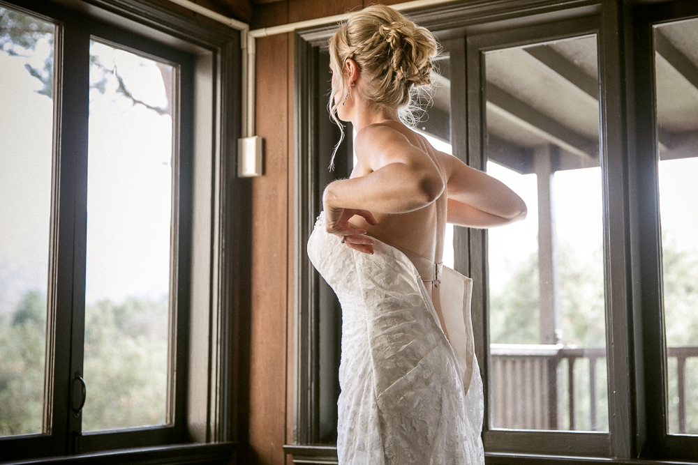 bride getting ready, bridal gown