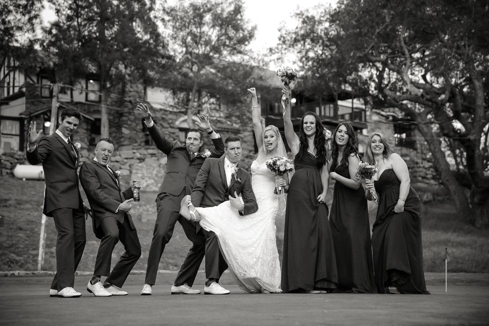 Bridal party fun photos