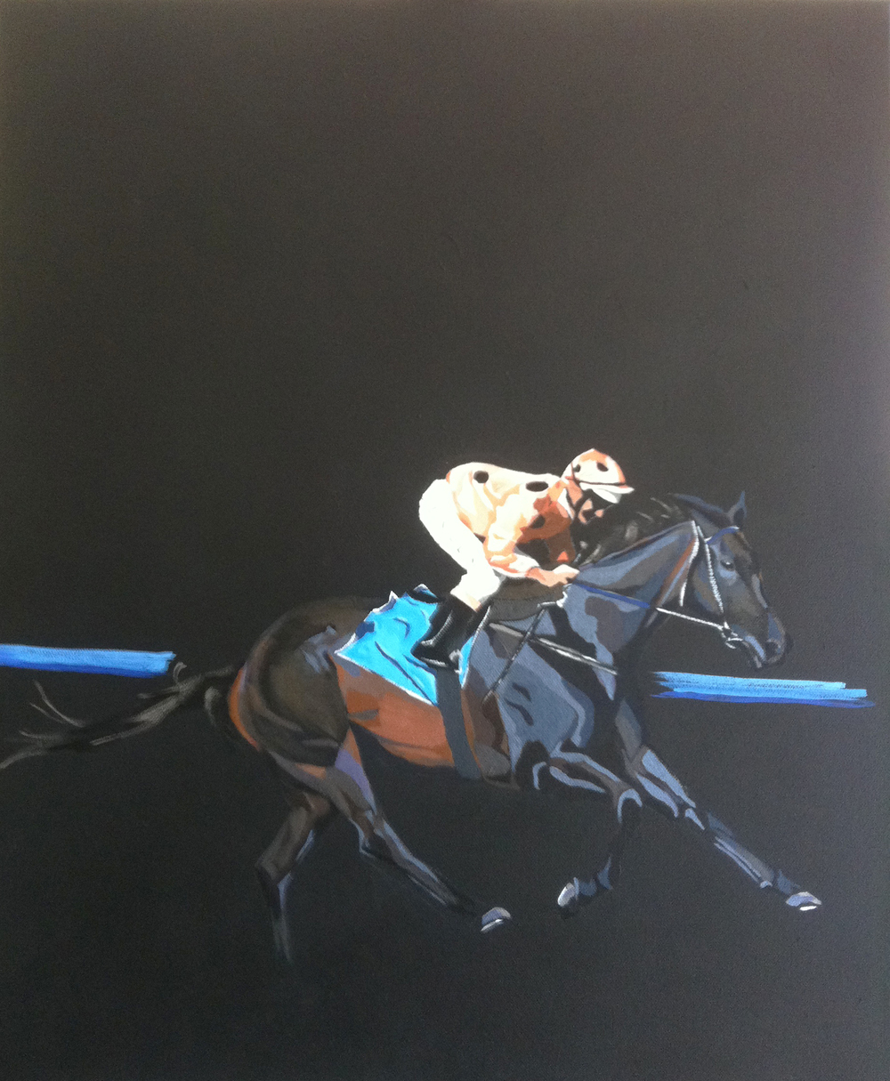 Black Caviar.    crylic polymer on canvas. 35 x 45 cm  ©  2012 Ida Montague  Auctioned at charity event.