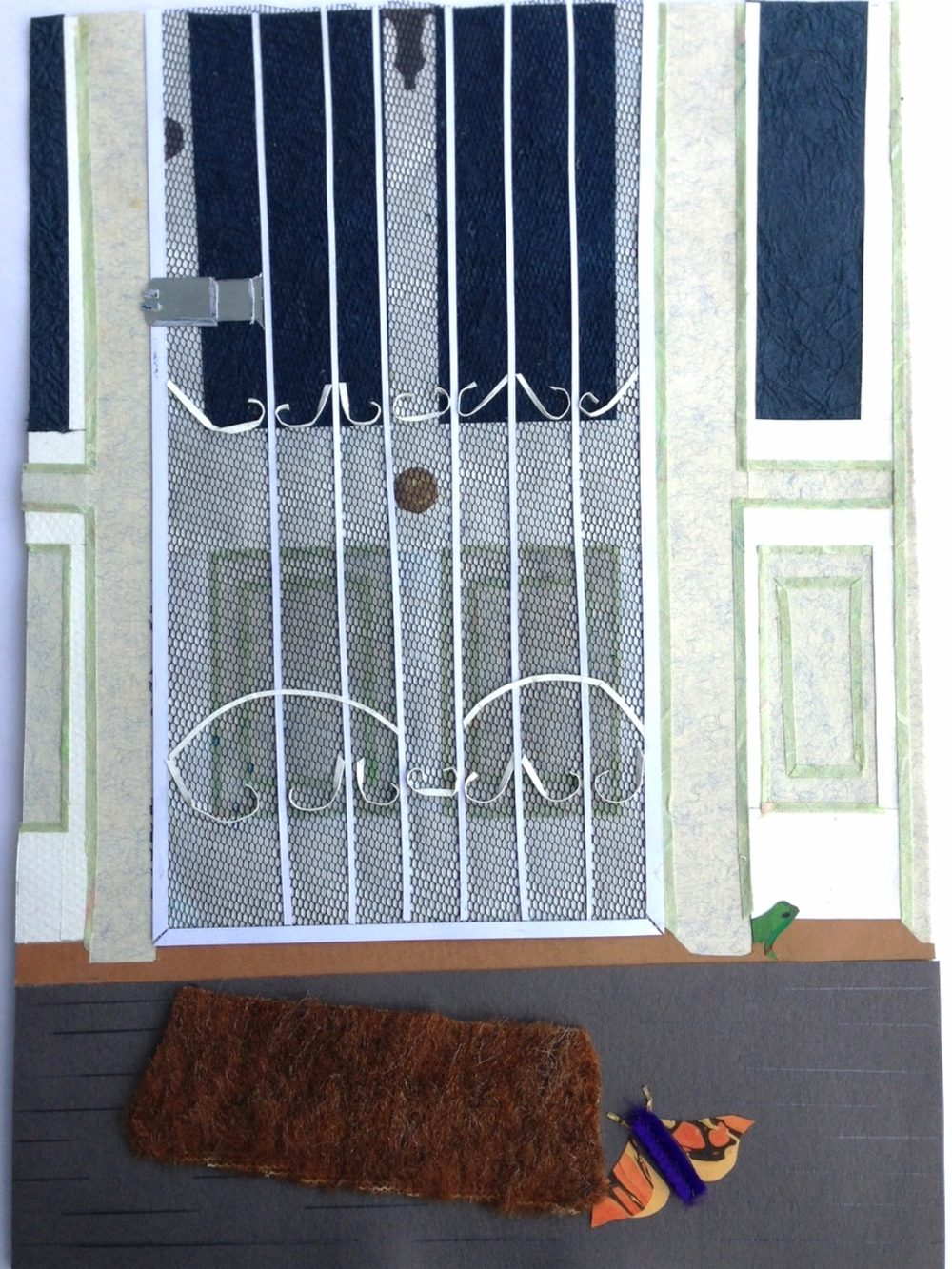 At My House .  Paper cuts and original collage for children's book illustration. 2001  ©  Ida Montague.