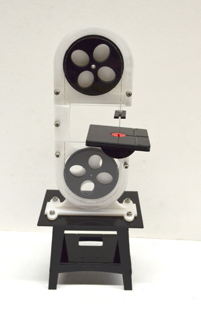 MINI BANDSAW MODEL  made out of parts shown above