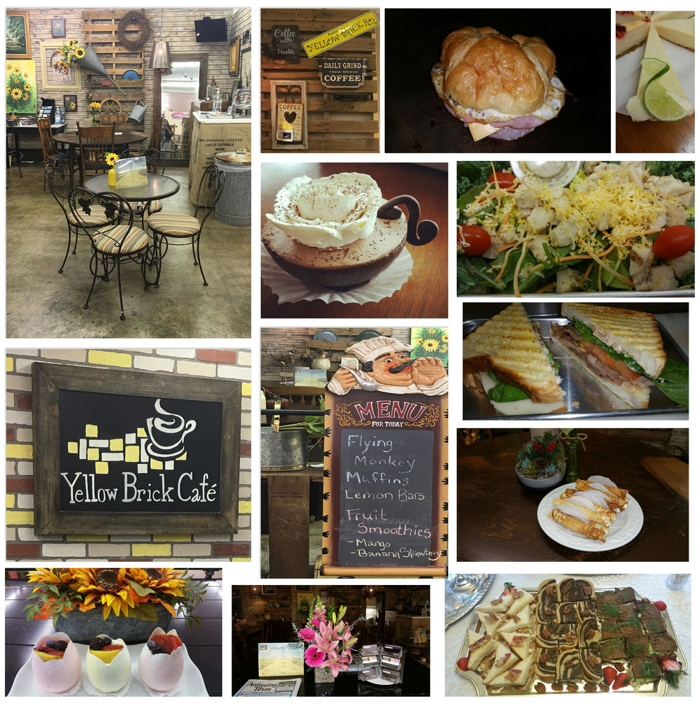 Yellow Brick Cafe - Yellow Brick Cafe specializes in artisan deli and panini sandwiches, salads, coffees, teas, fruit smoothies, pastries and desserts. Enjoy Wi-Fi access while dining with us or choose to sit in one of our quiet areas and enjoy reading your favorite book.