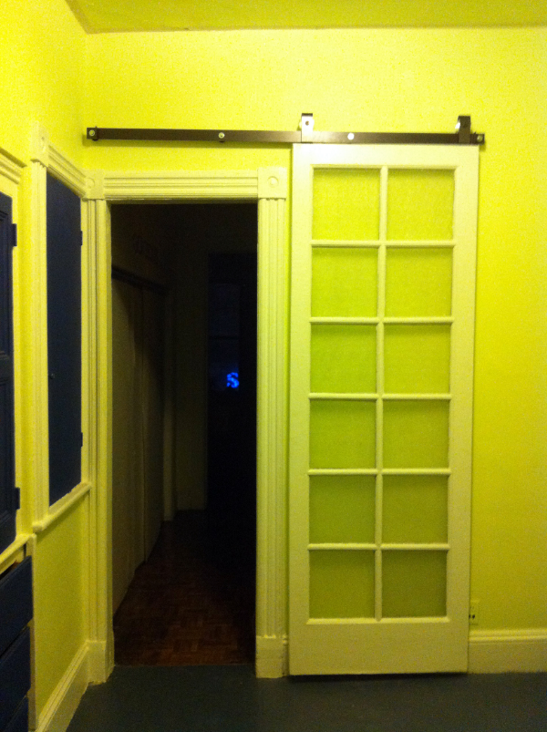 In One Of The Door Frames In His Apartment In Park Slope, Roger Wanted To  Install A Barn Door, With A Rail And Everything. U201cIt Is In The Middle Of  The ...