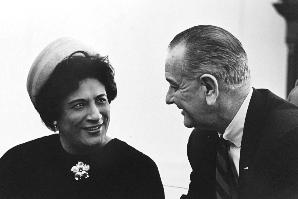 Constance Baker Motley with President Lyndon B. Johnson (1966)