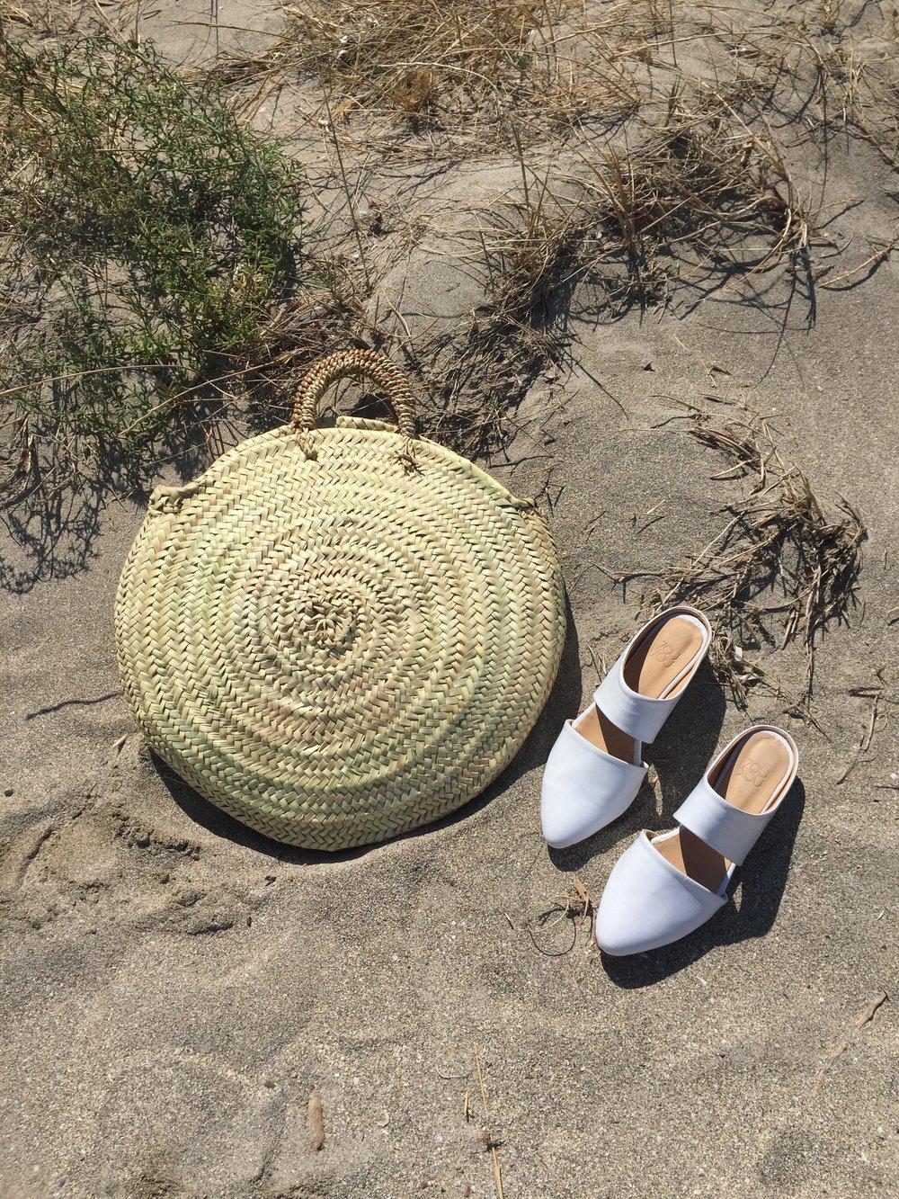 The Mule in White on the Beach in Puglia