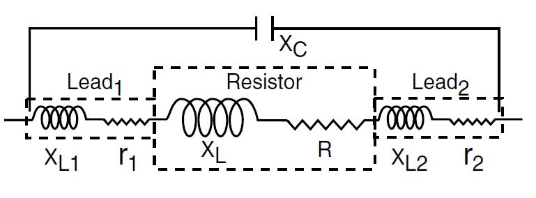 Figure 1: The Equivalent circuit of a resistor