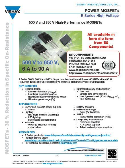Vishay E-Series Super Junction Brochure