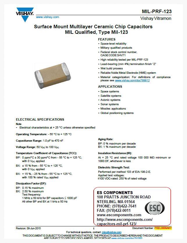 MIL-PRF-123 Preliminary Datasheet Image