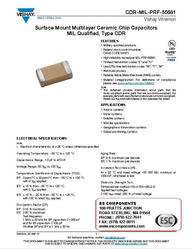 CDR-MIL-PRF-55681 Datasheet Image