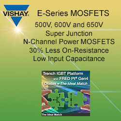 Vishay MOSFETS - Ideal for hybrid or MCM circuits, these MOSFETs are wire bondable (Gate & Source connections) and well suited for solder die attach (Drain connection).
