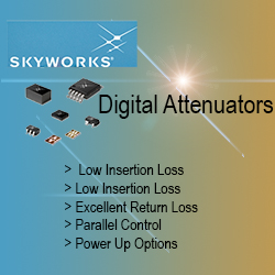 Skyworks Attenuators - Digital Attenuators with High Attenuation Range and Accuracy. Select Digital Attenuators Available from Stock for Prototype or High Volume Production