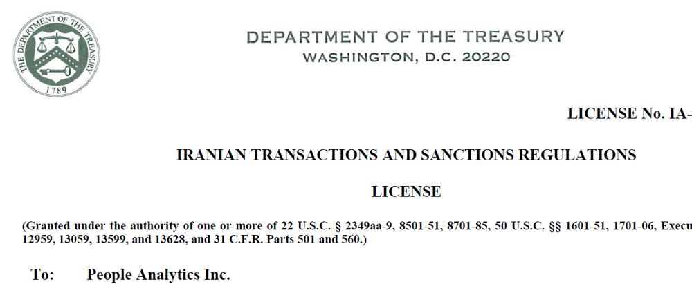 IranPoll OFAC license