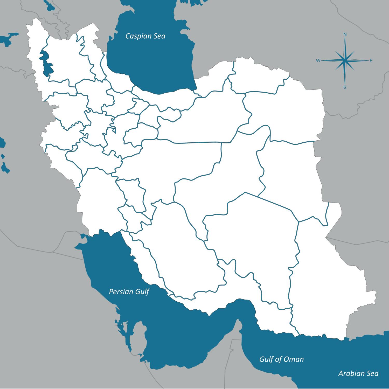 Iran On Map Of World.Regional Data Iranpoll Polling In Iran
