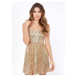 ASOS Red Clover Gold Sequin Dress 016baa772f