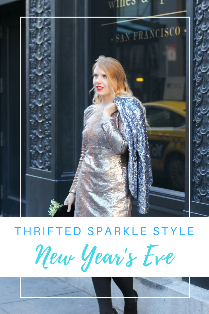 Gennifer Rose - Thrifted Sparkle Style for New Year's