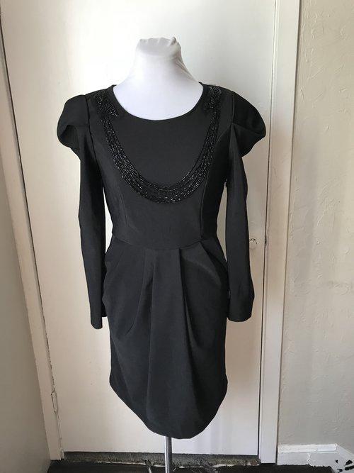 Zara Woman Little Black Dress With Statement Sleeves