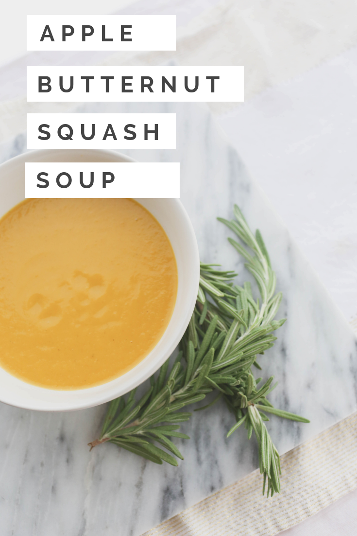 Butternut Squash and Green Apple Soup