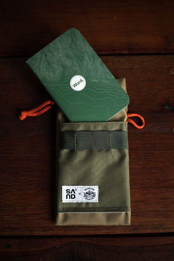 SAND X GREEN COVE Utility Notes Case By GreenCoveCollection