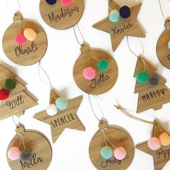 Personalized Christmas Pom Pom Ornaments By NestAccessories