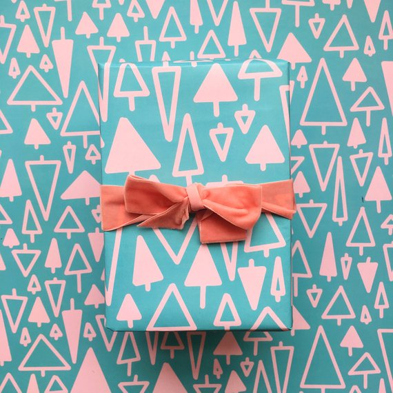 Whimsical wrapping paper by Bash Party Goods