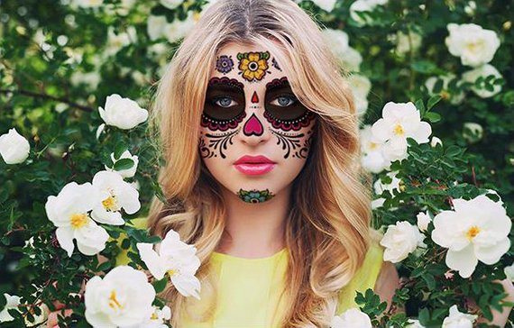 Sugar Skull Temporary Face Tattoo By PaperCitadel