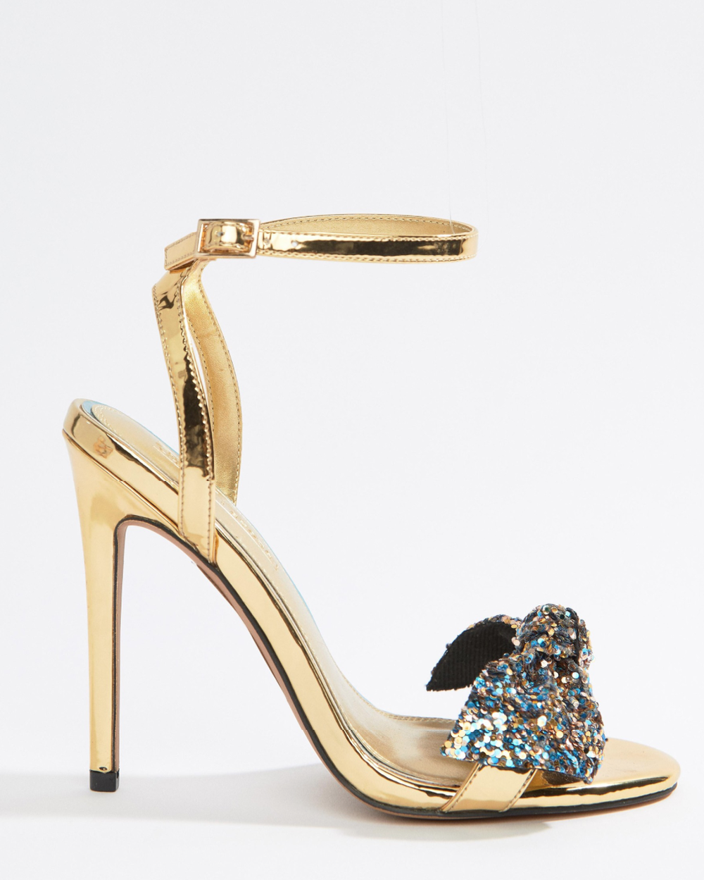 Wide Fit Whirl Embellished Heeled Sandals By ASOS