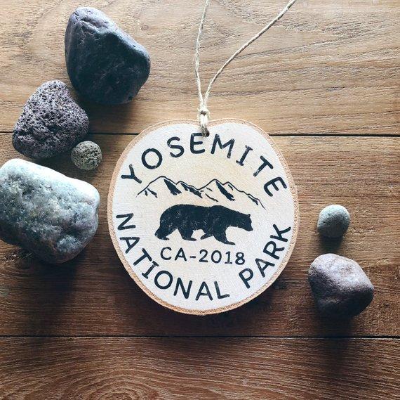 Yosemite National Park Bear Ornament By TrailblazeDesigns
