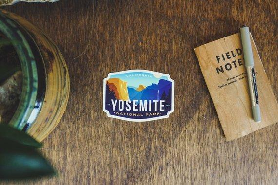 Yosemite National Park Vinyl Sticker By EimanDesignCo