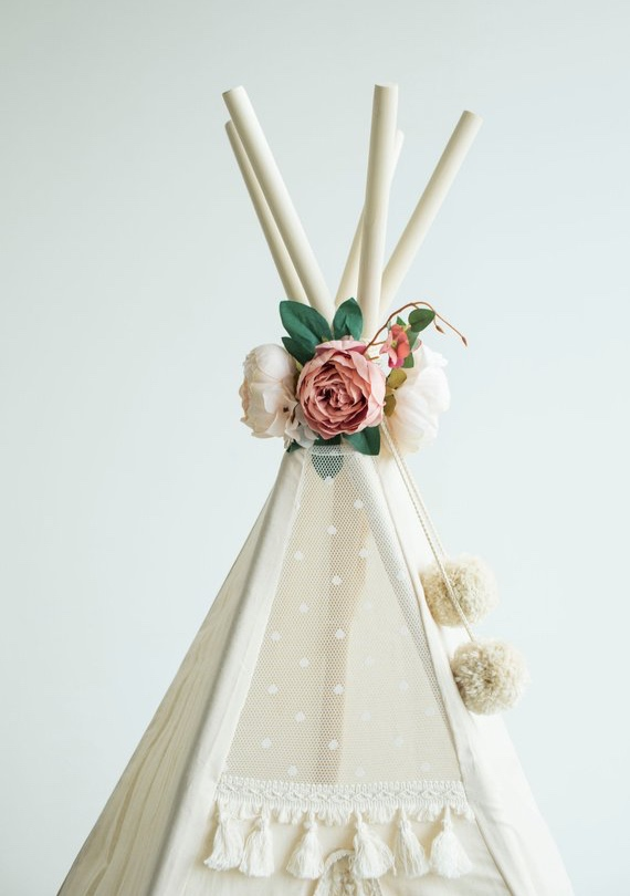 Floral Nursery Decoration Perfect Teepee Topper By MinicampLT