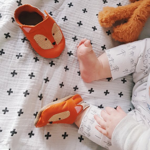 Personalized Fox Baby Shoes By BornBespoke