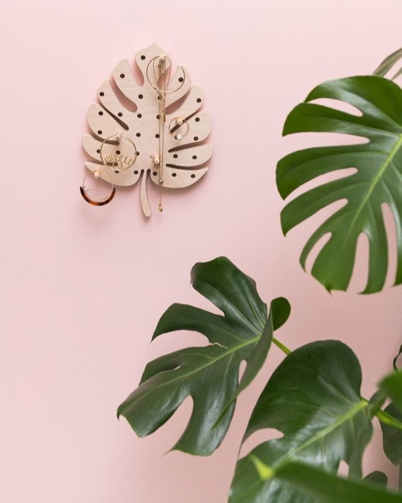 Monstera Leaf Pegboard By Littleanana