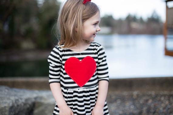 Heart Valentine Toddler Dress By Skuttlebum