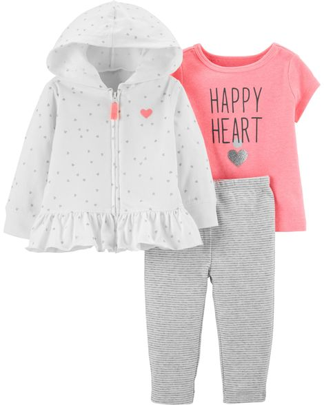 Heart Cardigan Set By Carters