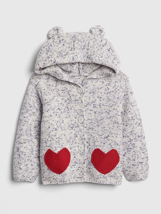 Heart Garter Hoodie Sweater By Gap