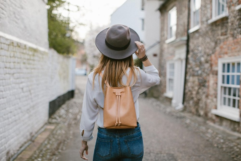 Leather Bucket Backpack By Crupon